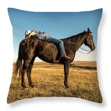 Taking A Snooze Throw Pillow by Todd Klassy