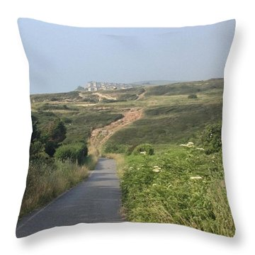 Taking A Stroll Down The The Beach Throw Pillow