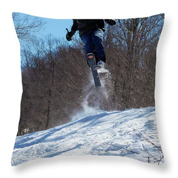 Throw Pillow featuring the photograph Taking Air On Mccauley Mountain by David Patterson