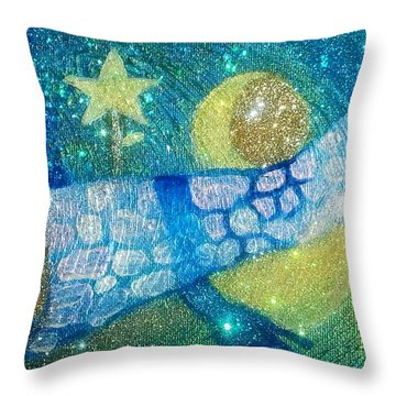 Taking Attendance Over The Apartheid Wall At Baia Mare Throw Pillow
