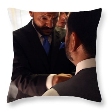 Taking Care Of Business Throw Pillow