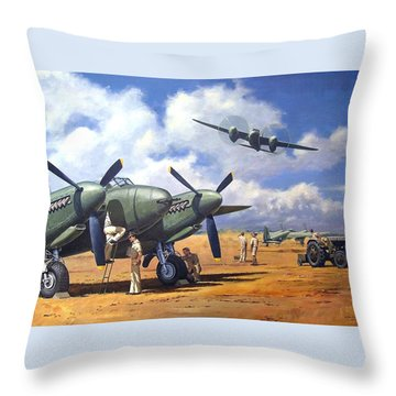 'taking Delivery - Mosquito' Throw Pillow