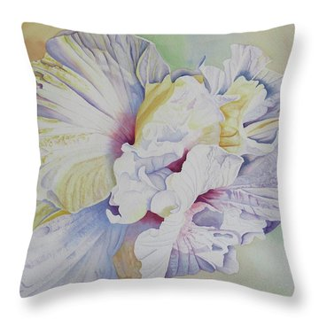 Throw Pillow featuring the painting Taking Flight by Teresa Beyer