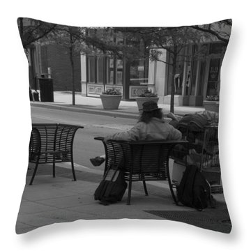 Throw Pillow featuring the photograph Taking It Easy by Michael Colgate
