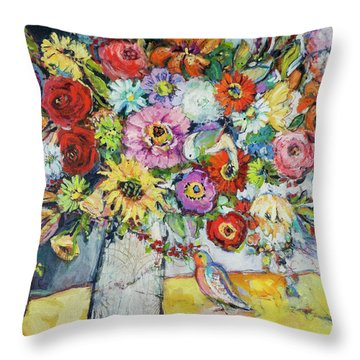 Taking Joy Throw Pillow