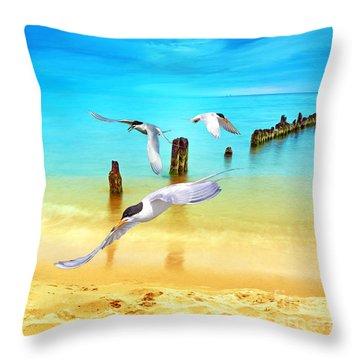 Taking Terns Throw Pillow