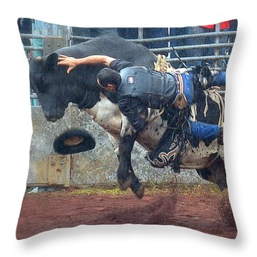 Throw Pillow featuring the photograph Taking The Fall by Lori Seaman