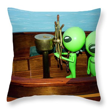 Taking The Helm Throw Pillow