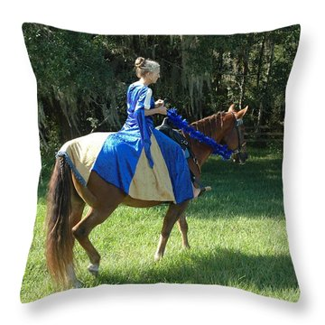 Throw Pillow featuring the photograph Taking A Ride by Nancy Taylor