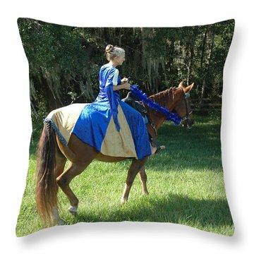 Taking A Ride Throw Pillow