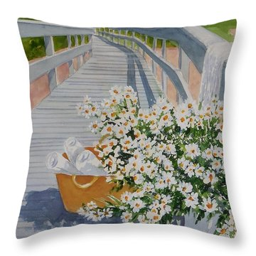 Taking Time Off Throw Pillow