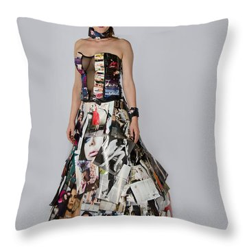 Megan In Gown Throw Pillow