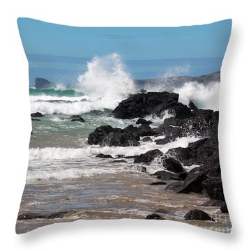 Takou Bay  Throw Pillow