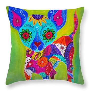 Talavera Chihuahua Throw Pillow