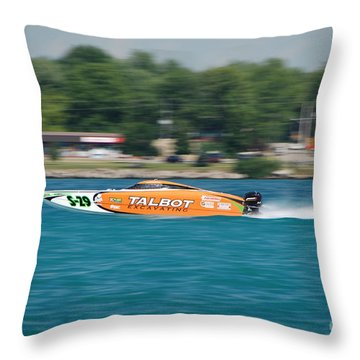 Talbot Offshore Racing Throw Pillow