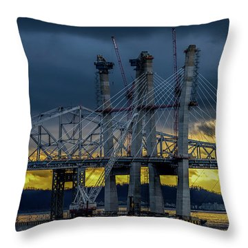 Tale Of 2 Bridges At Sunset Throw Pillow