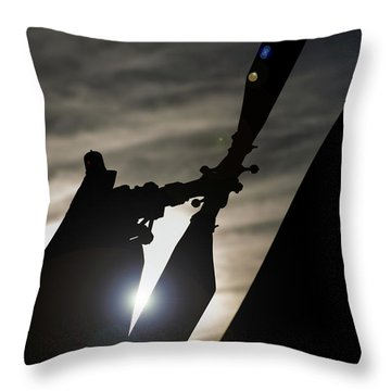 Throw Pillow featuring the photograph Tale Sun by Paul Job