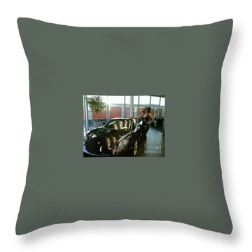 Talisa Hartleys Sports Cars And Big Muscles Throw Pillow