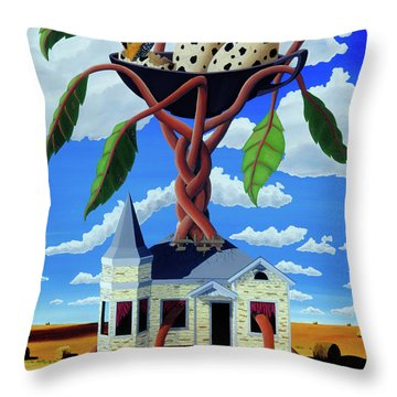 Talk Of The Town Throw Pillow