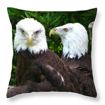 Talking To Me Throw Pillow by Greg Patzer