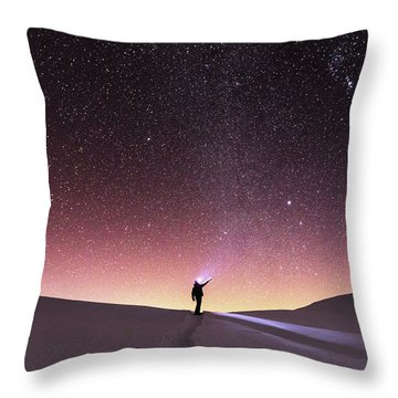Talking To The Stars Throw Pillow by Evgeni Dinev