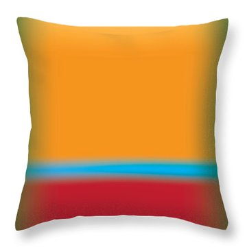 Tall Abstract Color Throw Pillow