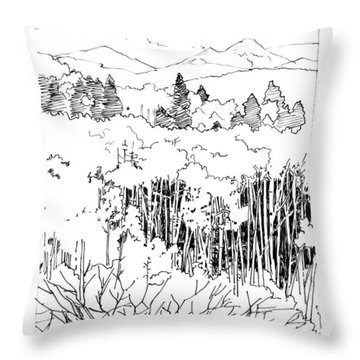 Tall Aspens Rocky Mountains Throw Pillow by John Lautermilch