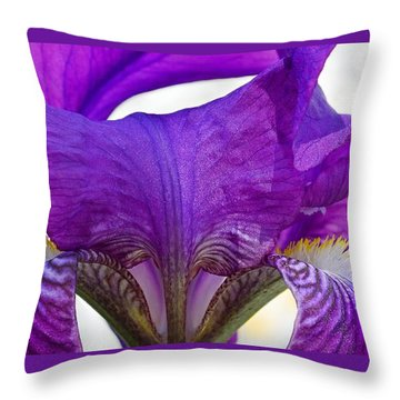 Tall, Bearded And Handsome - Iris Throw Pillow