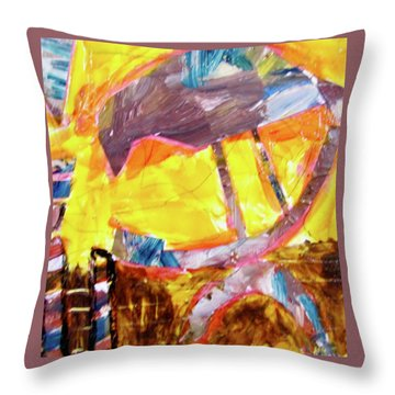 Tall Bird  Throw Pillow