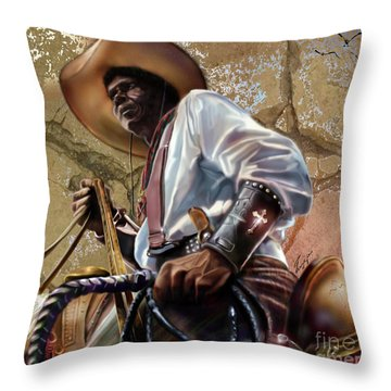 Tall In The Saddle Cowboy Pride 1a Throw Pillow