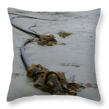 Tall Kelp Throw Pillow by Claudia Stewart