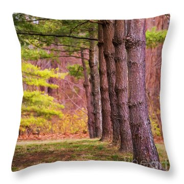 Tall Pines Standing Guard Throw Pillow