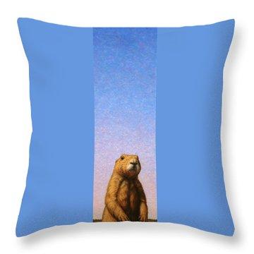 Woodchuck Throw Pillows