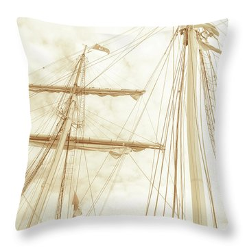 Tall Ship - 1 Throw Pillow