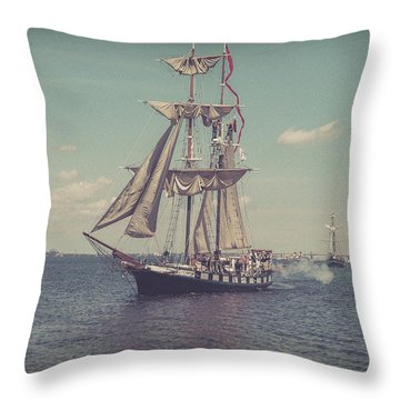 Tall Ship - 3 Throw Pillow
