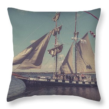 Tall Ship - 4 Throw Pillow