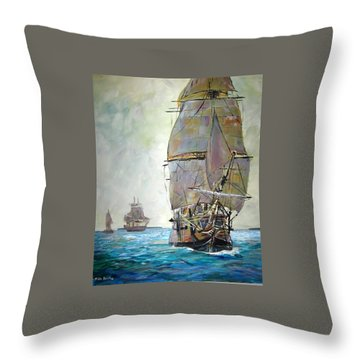 Tall Ships 2 Throw Pillow