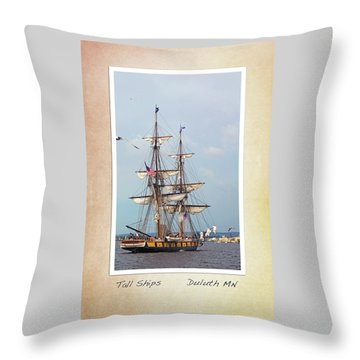 Throw Pillow featuring the photograph Tall Ships V1 by Heidi Hermes