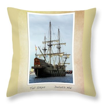 Throw Pillow featuring the photograph Tall Ships V2 by Heidi Hermes