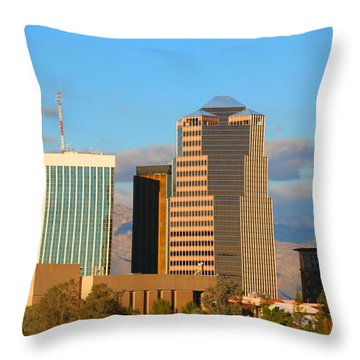 Tall Skinny Man With Hat Throw Pillow