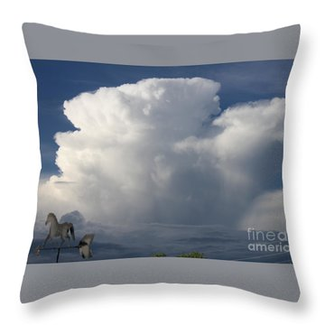 Tall Storm Clouds Throw Pillow