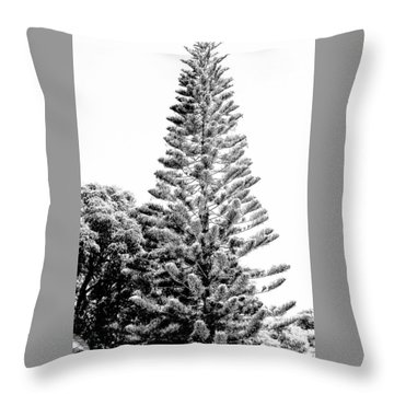 Tall Tree Bw - Lan11 Throw Pillow