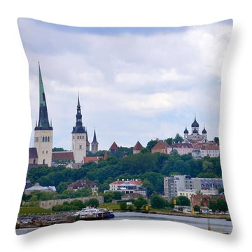Tallinn Estonia. Throw Pillow