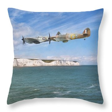 Throw Pillow featuring the photograph Tally Bally Ho by Roy McPeak