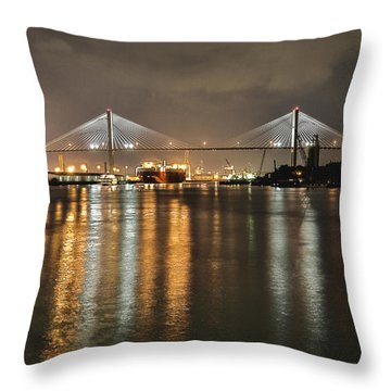Talmadge Memorial Bridge Throw Pillow