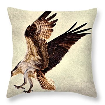 Throw Pillow featuring the photograph Talons First  by Ola Allen