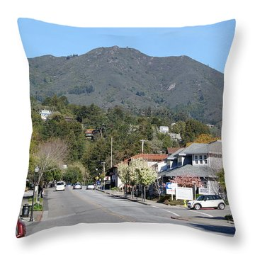 Throw Pillow featuring the photograph Tamalpais From Mill Valley by Ben Upham III