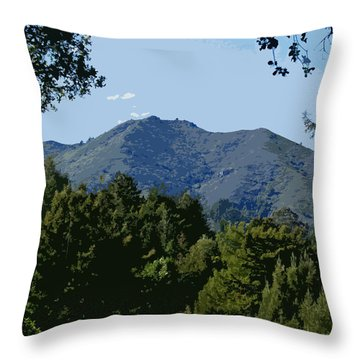 Throw Pillow featuring the photograph Tamalpais...the Sleeping Princess by Ben Upham III