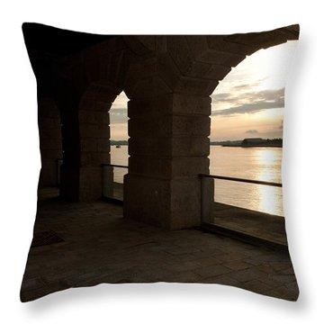Tamar Estuary Sunset Throw Pillow