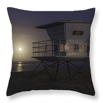 Tamarack Moonset Throw Pillow